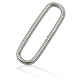 """.Ref: OX OS-01-09 - Oval Loop 2"""" SS"""