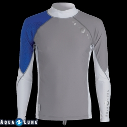 Ref: ST 66022- Top Lycra Grey/Blue Men Long Sleeves