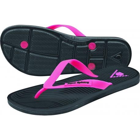 Ref: AS FW0140101- flipflop Hawaii II lady black/pink