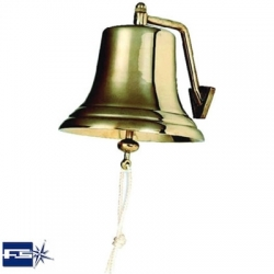 Ref: FS 2106- Ships Bell Polished Brass R.I.N.A Approved