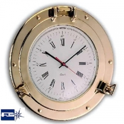 Ref: FS 229- Clock Port Hole Polished Brass