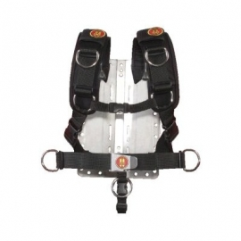 Backplate Stainless Steel with Comfort Harness